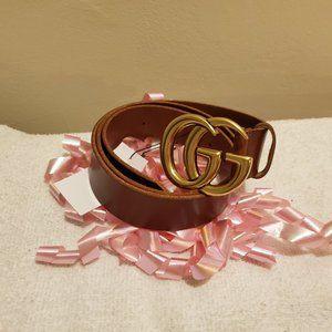 Gucci Brass Brown Belt